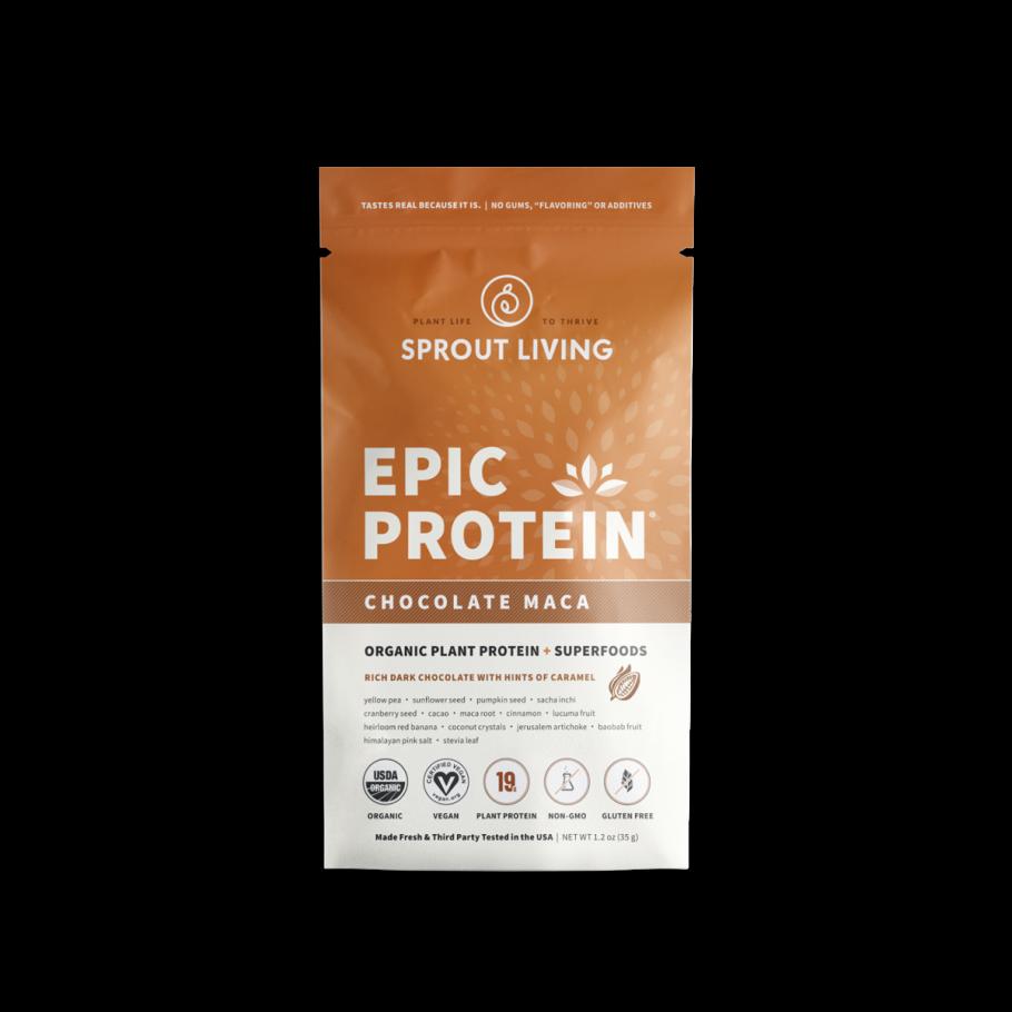 Epic protein chocolate maca 35 gramos