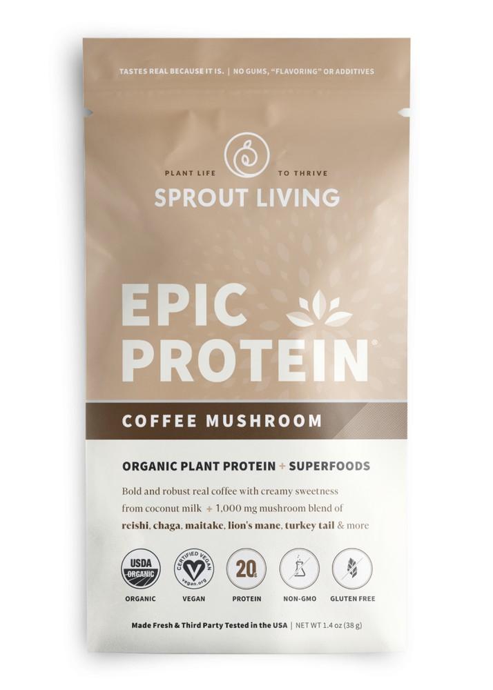 Epic protein coffe mushroom 38 gramos