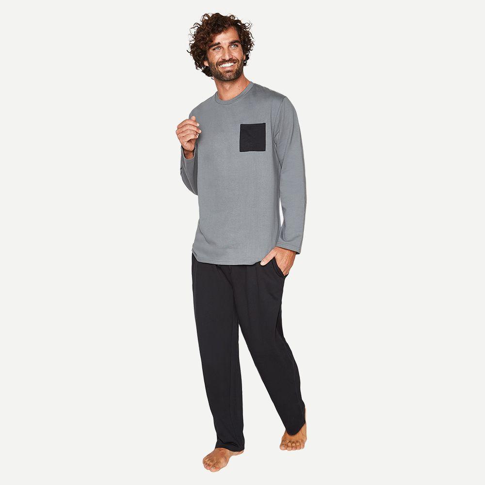Pijama largo algodón mt30094 marengo