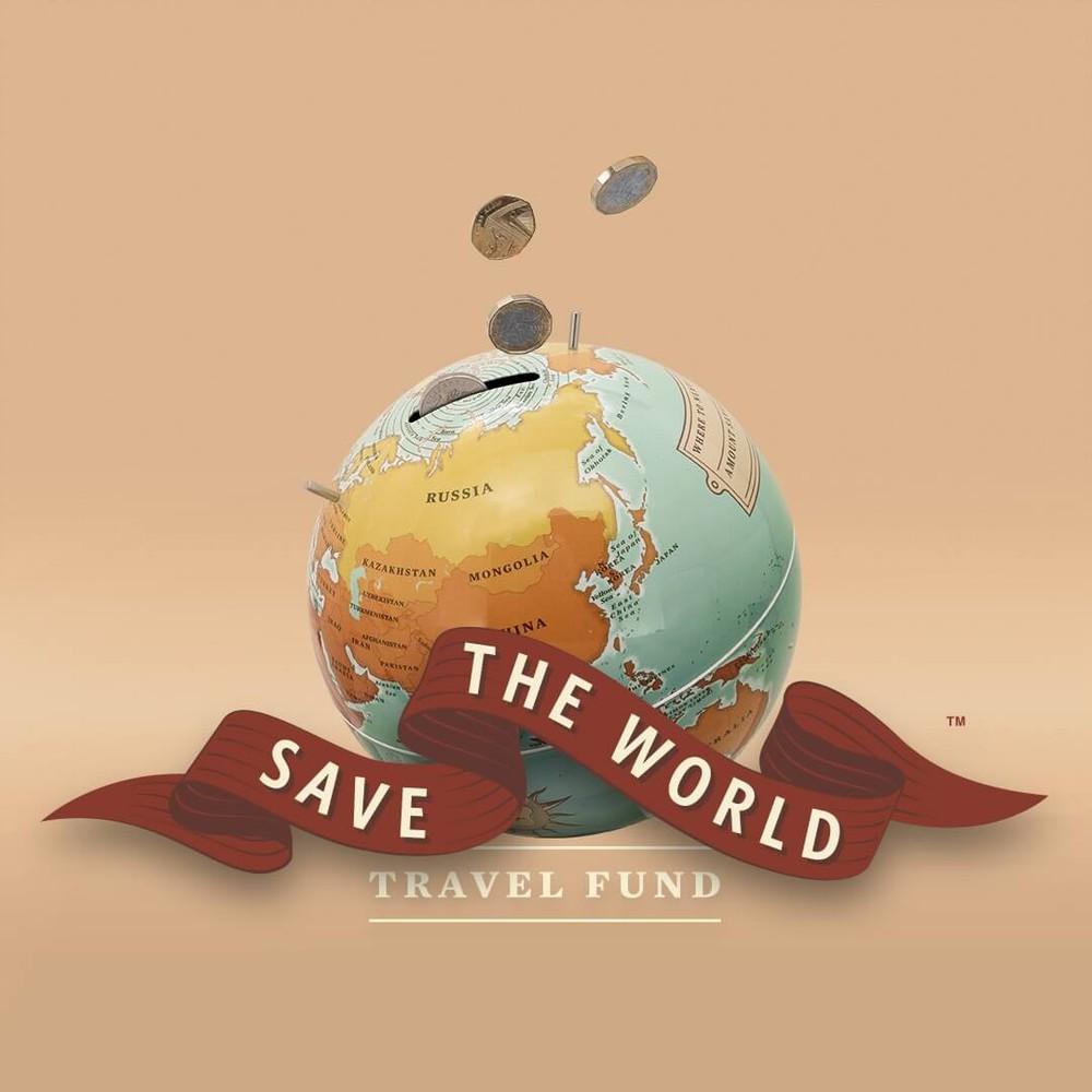 """Alcancía """"save the world"""" 15 x 15 x 15 cm"""