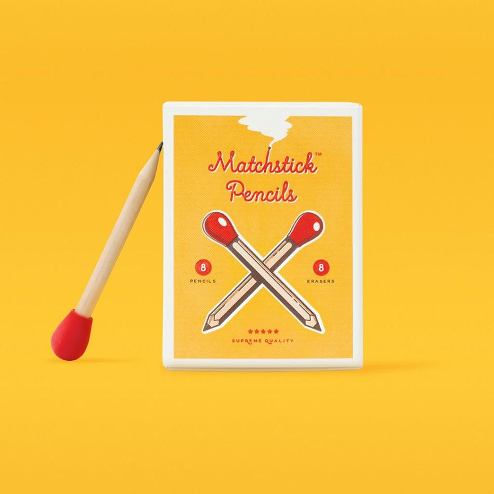 """Lápices en forma de fosforo """"matchstick pencils"""" 10 x 8 cm"""