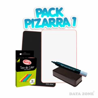 Pack pizarra doble cara y accesorio