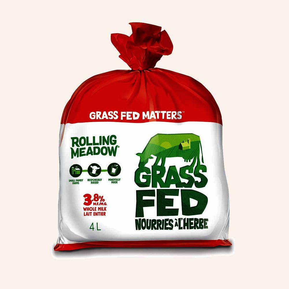 Grass fed whole milk 3.8%
