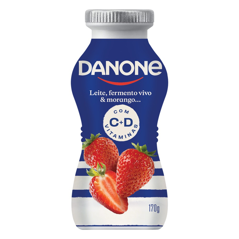 Iogurte fermentado sabor morango