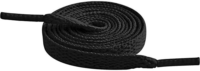 Cordón plano negro 90 cm