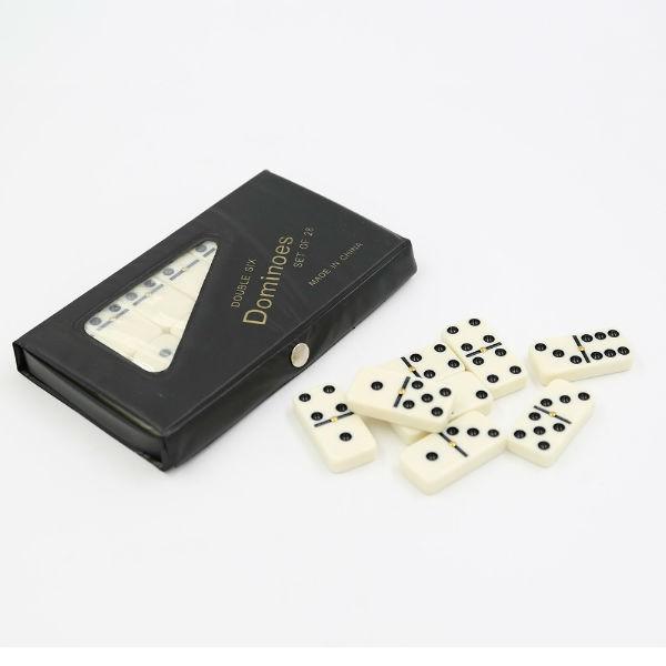 Set de dominó 28 piezas caja negra