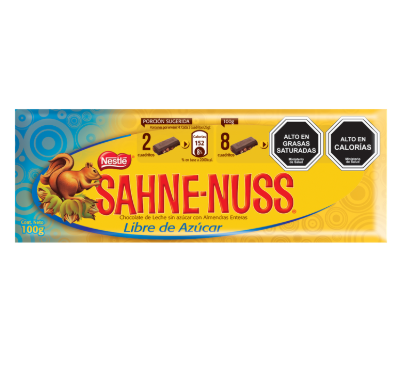 Sahne-nuss sin azucar
