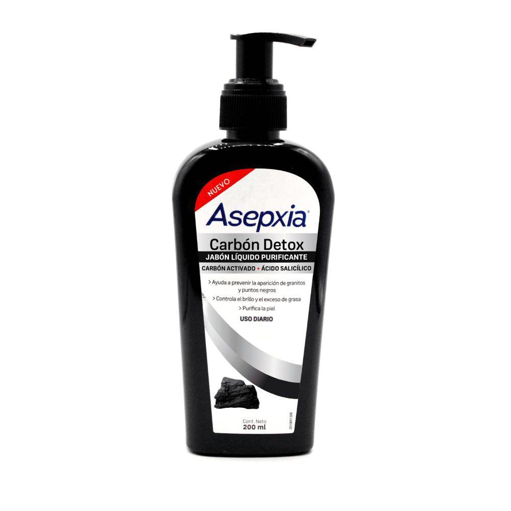 Jabón líquido facial antiacne carbón
