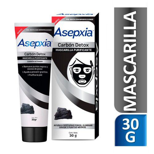 Mascarilla facial antiacne carbón