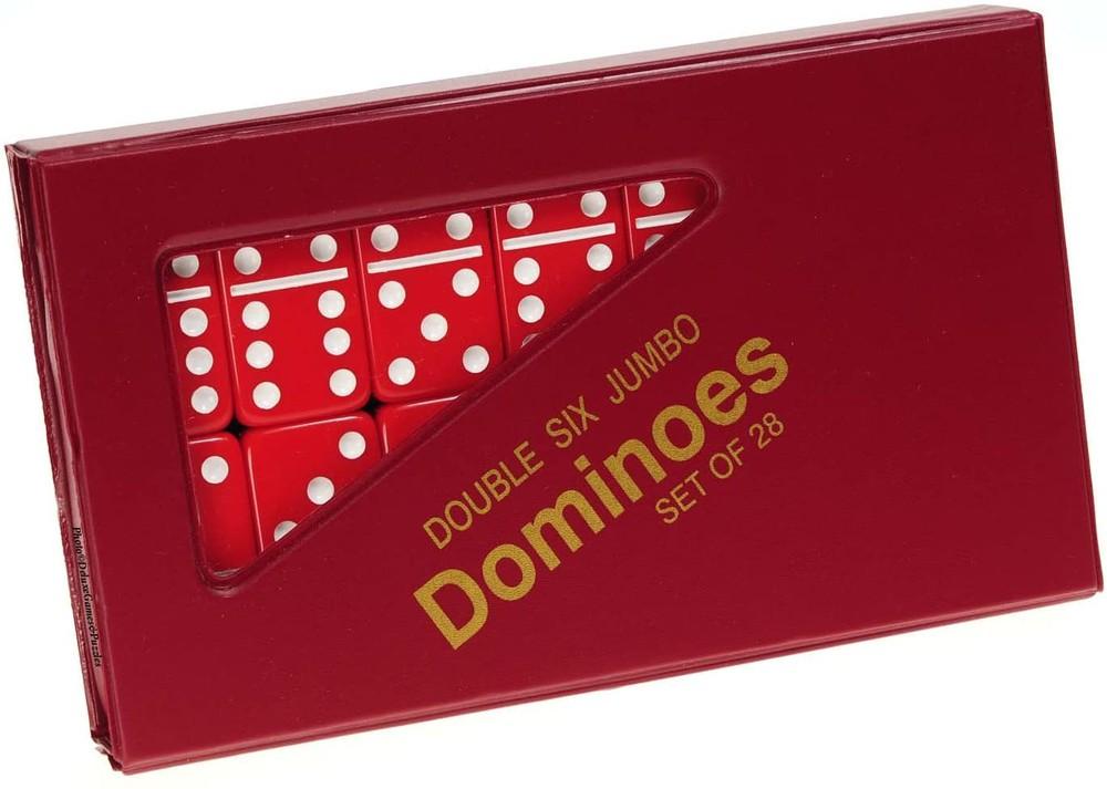 Set de dominó 28 piezas caja roja