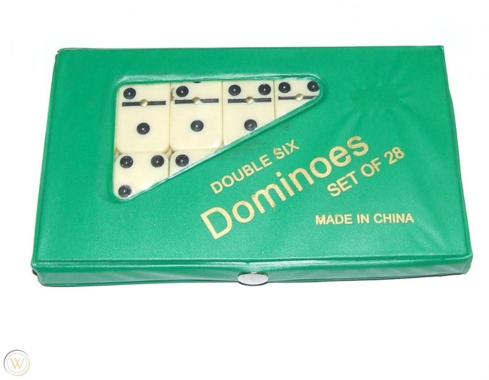 Set de dominó 28 piezas caja verde