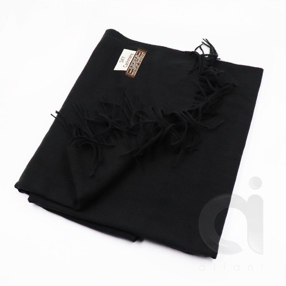 Bufanda cashmere negro unidad