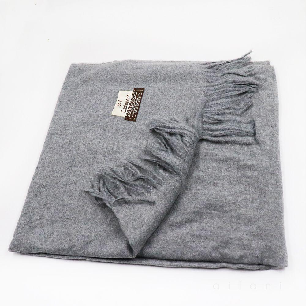 Bufanda cashmere gris unidad
