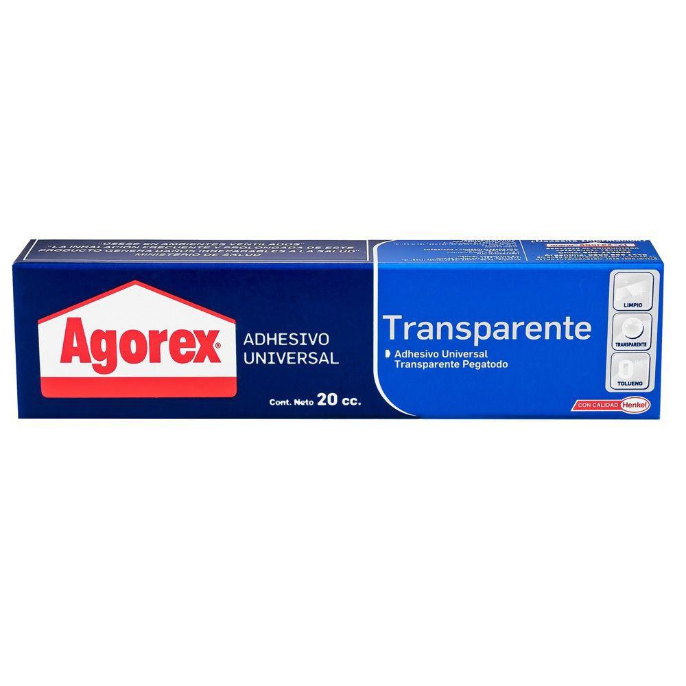 Adhesivo universal Agorex Transparente Pomo 20cc