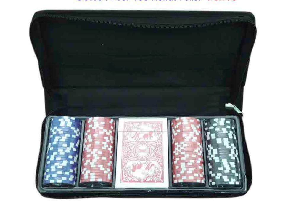 Set 100 fichas poker + naipes