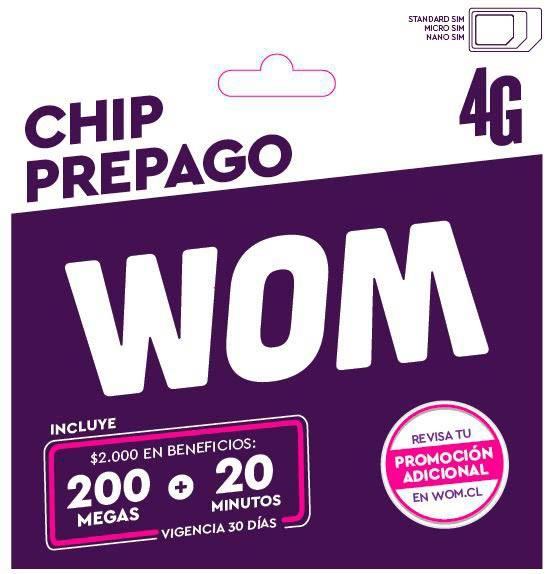 Chip prepago 2000 en beneficios mas promoción adicional