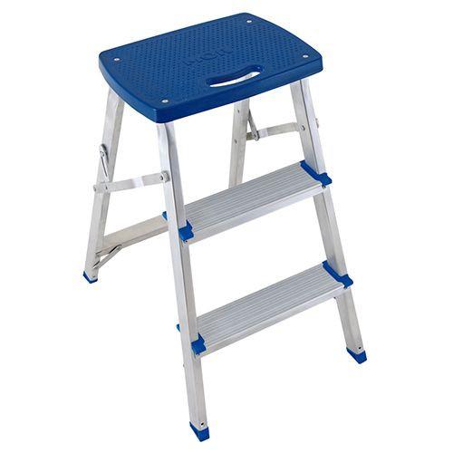 Escada banqueta alumínio 3 degraus Unidade