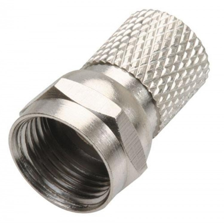 """Conector macho tipo """"f"""" para cable rg6, de enroscar 0.0028"""