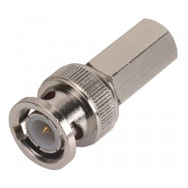 Conector macho tipo bnc de enroscar, para cables rg59 y rg62 0.0129