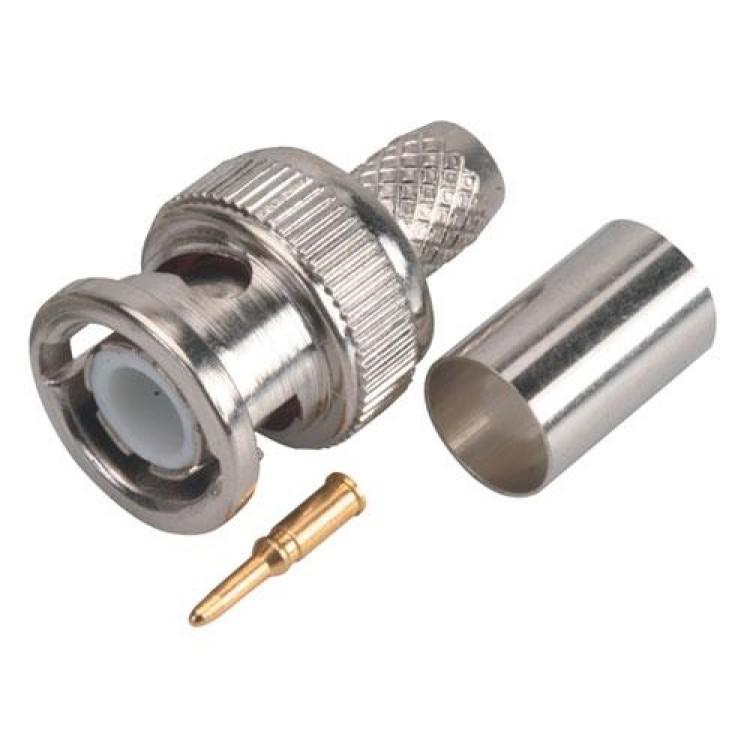 Conector macho tipo bnc de apretar para rg6 0.0098