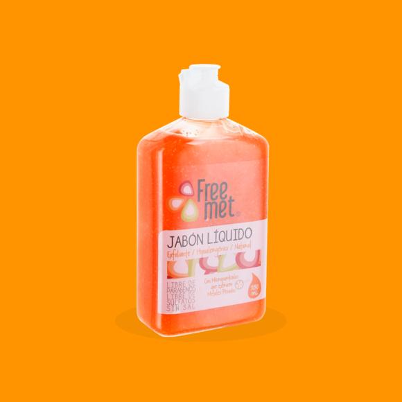 Jabón exfoliante natural botella plastica 250 ML