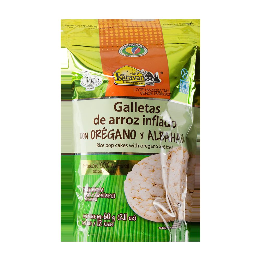 Galleta arroz oreg+albah Doy pack 60g