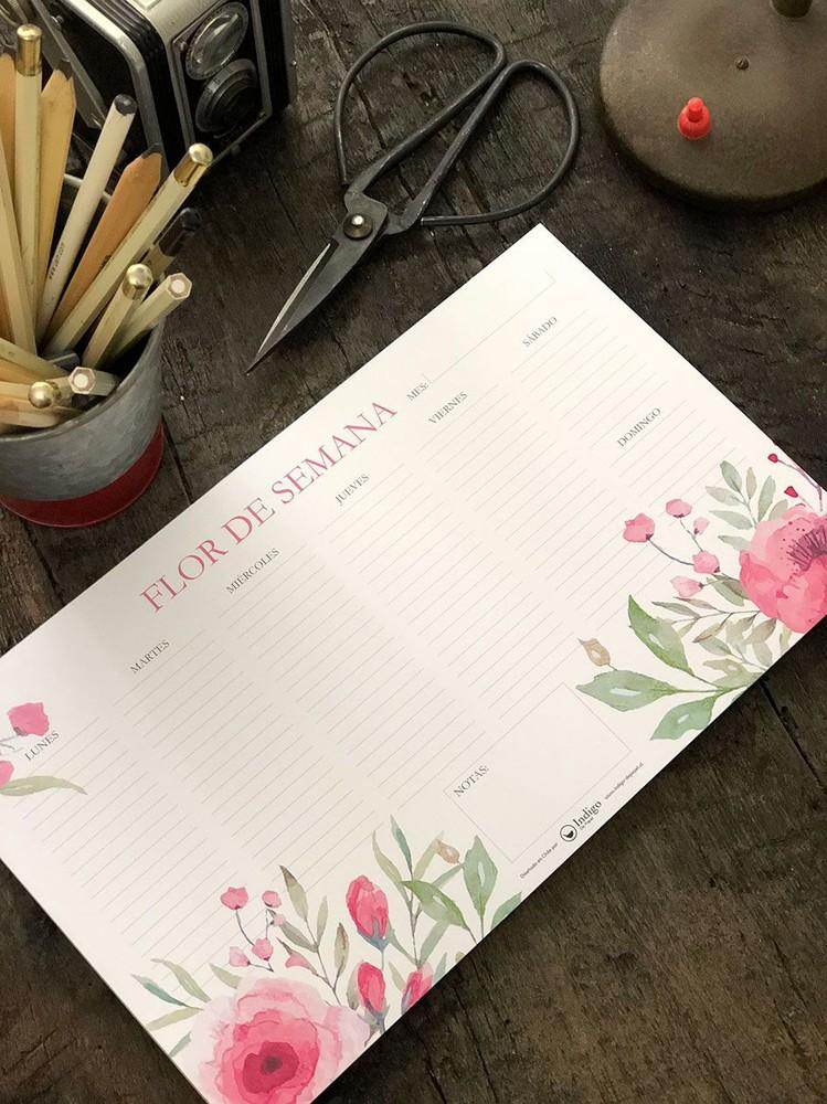 Organizador Escritorio M · Flores
