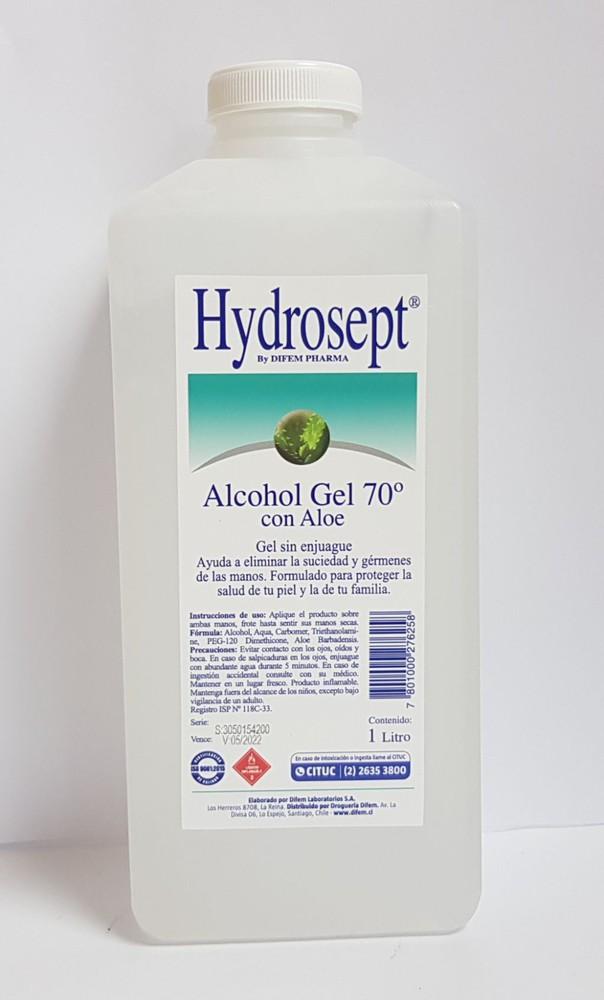 Alcohol gel 70% con aloe vera