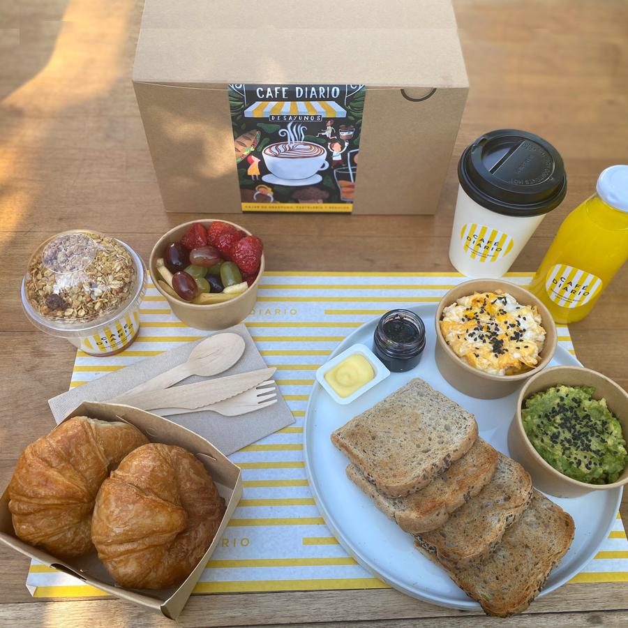 Caja de desayuno tradicional unidad