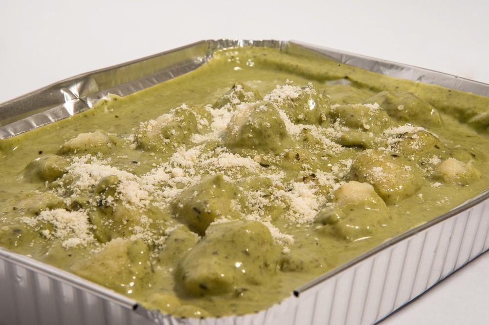 Gnocchis preparados salsa al pesto 3 a 4 personas, para gratinar al horno