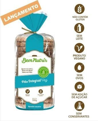 Pão integral vegano