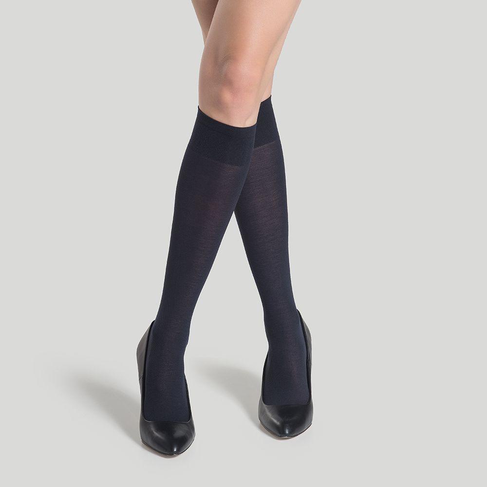 Media pantalón algodón negro 10696