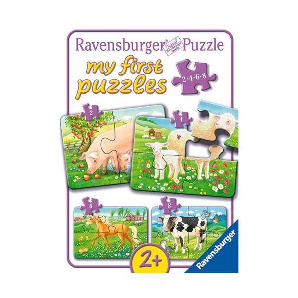 Mi primer puzzle - animales favoritos Caja 22 cm x 5 cm x 16 cm, 380 grs.