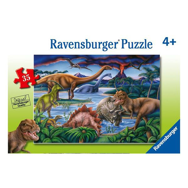 Puzzle reunión de dinosaurios - 35 piezas