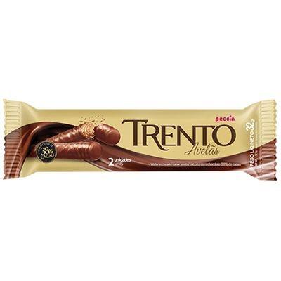 Wafer Trento coberto e recheado com chocolate sabor avelã
