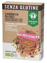 Pasta Caserecce de garbanzos orgánico