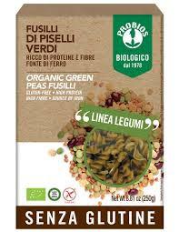 Pasta Fusilli de arvejas orgánicas