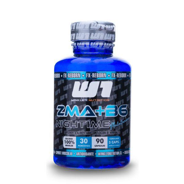 Zma nightime +vitamina b6 90 capsulas Frasco de 90 cápsulas