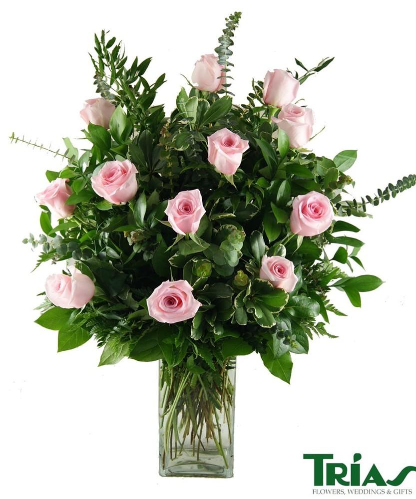 1 dozen pink roses Arrangement