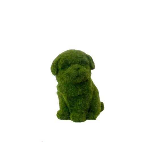 Perro mini decorativo en pasto artificial 1kg