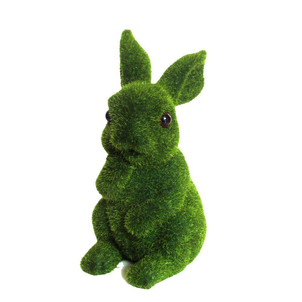 Conejo pensativo decorativo pasto artificial 1kg
