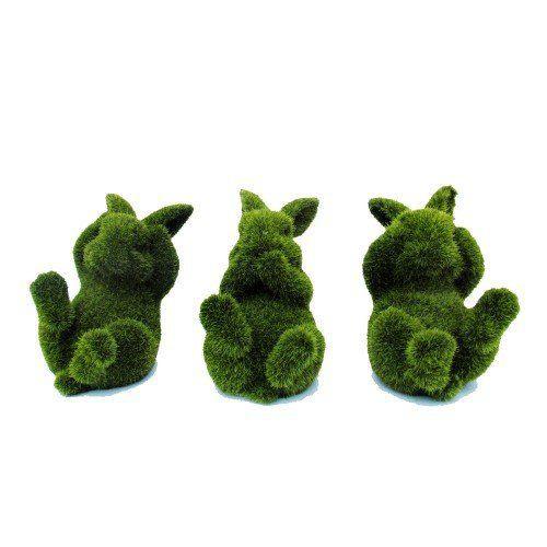 Conejo decorativo relax set *3 pasto artificial 1kg