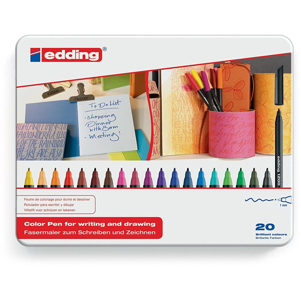 Marcadores fibra 20 colores