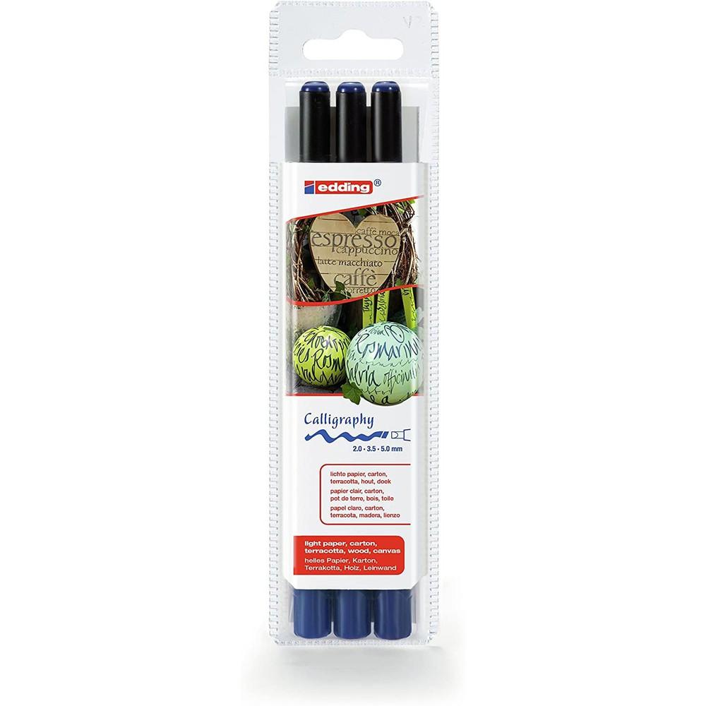 Set lápiz punta pincel - steel blue