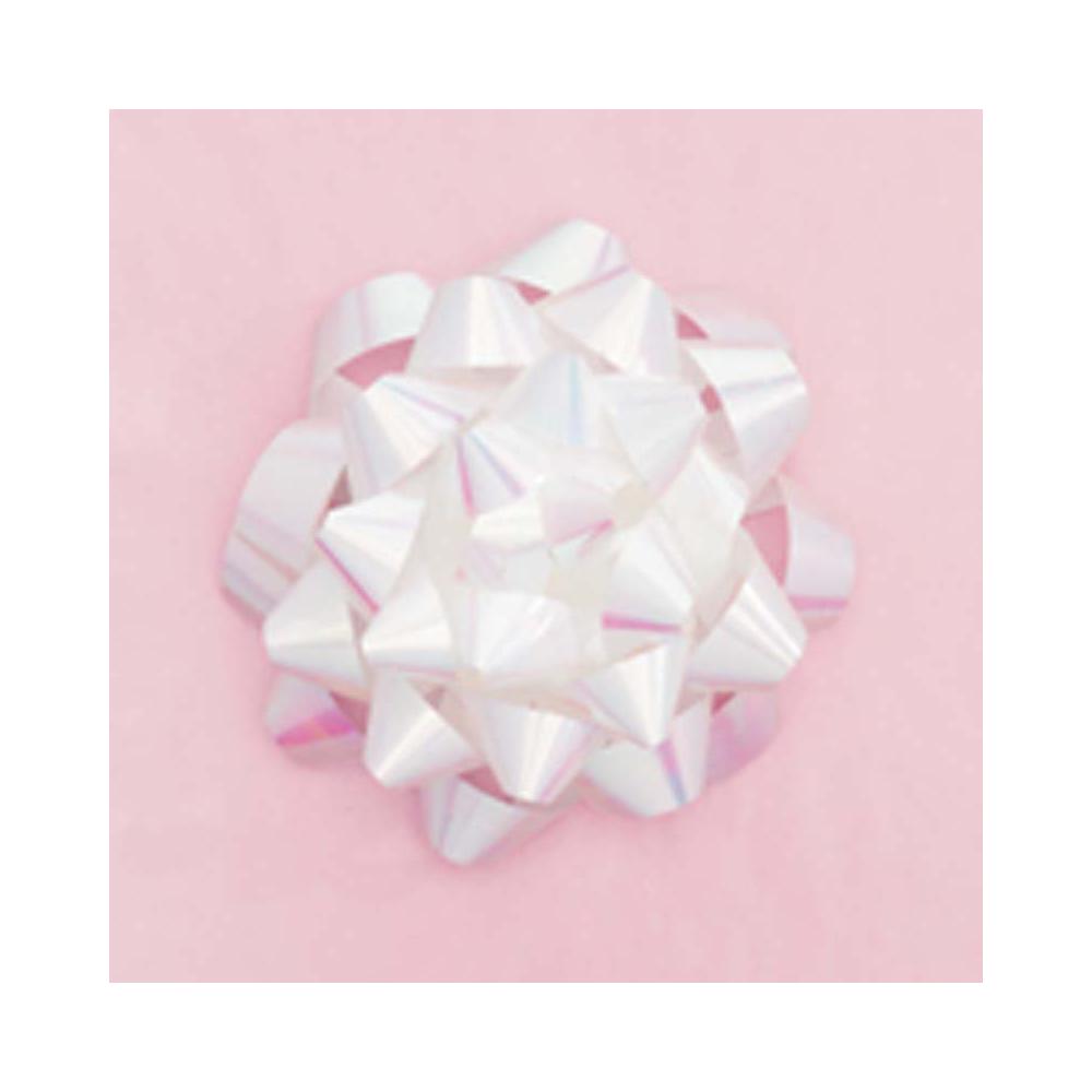 Cinta regalo extra grande - perlada blanca