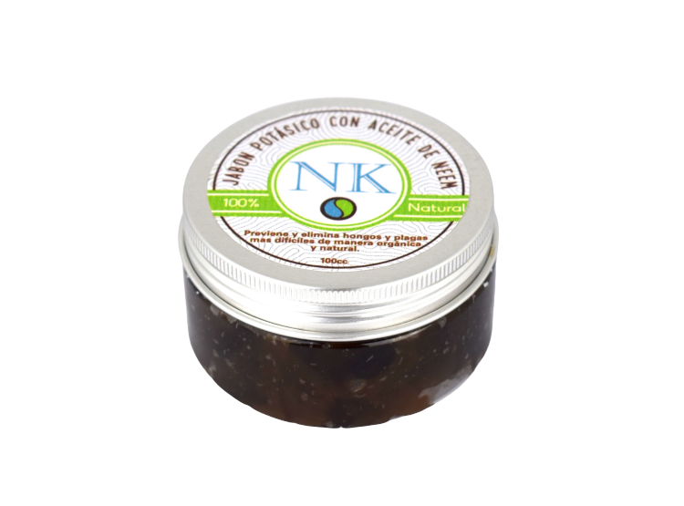 Jabón potásico con aceite de neem frasco de 100 cc