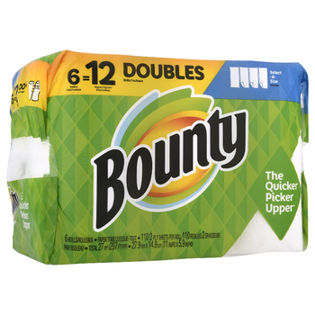 Select A-Size Paper Towels, White Bounty 6 rolls delivery ...