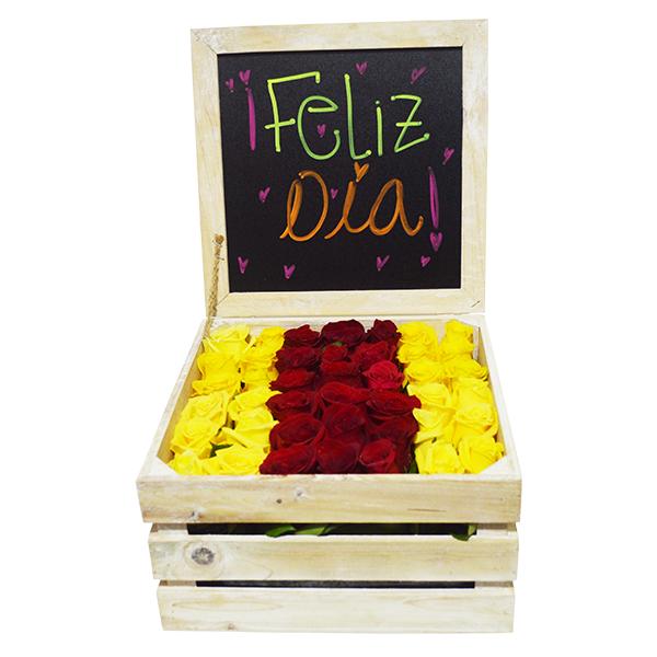 Baúl sorpresa de rosas (grande)