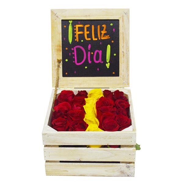 Baúl sorpresa de rosas (pequeño)