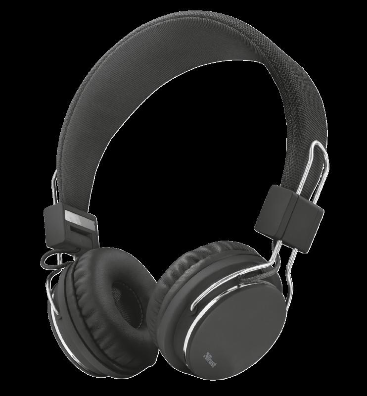 Audifonos diadema alambrico trust ziva negro 30 x 30x 15 cm , 152 gr